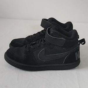 Nike high top black kids sneakers Sz 13.5